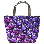 Blue purple Glass Bucket Handbag