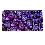 Blue purple Glass Pencil Case