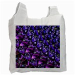 Blue purple Glass White Reusable Bag (One Side)