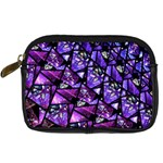 Blue purple Glass Digital Camera Leather Case