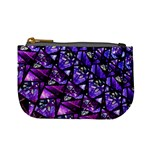 Blue purple Glass Coin Change Purse