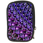 Blue purple Glass Compact Camera Leather Case