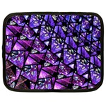 Blue purple Glass Netbook Sleeve (XL) Front
