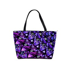 Blue Purple Glass Large Shoulder Bag by KirstenStar