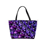 Blue purple Glass Large Shoulder Bag