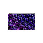 Blue purple Glass Cosmetic Bag (Small)