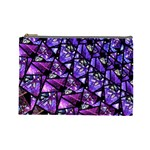 Blue purple Glass Cosmetic Bag (Large)