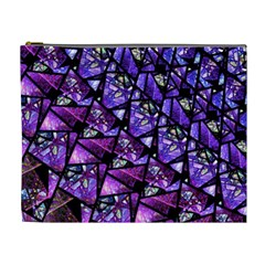 Blue Purple Glass Cosmetic Bag (xl) by KirstenStar
