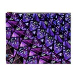 Blue purple Glass Cosmetic Bag (XL)