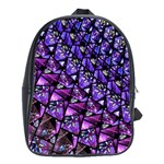 Blue purple Glass School Bag (Large)