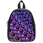 Blue purple Glass School Bag (Small)