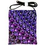 Blue purple Glass Shoulder Sling Bag