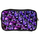 Blue purple Glass Travel Toiletry Bag (One Side)