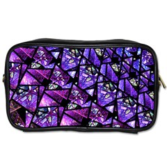 Blue Purple Glass Travel Toiletry Bag (two Sides) by KirstenStar
