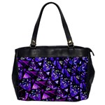 Blue purple Glass Oversize Office Handbag (One Side)