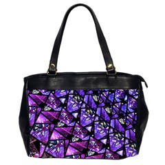 Blue Purple Glass Oversize Office Handbag (two Sides) by KirstenStar