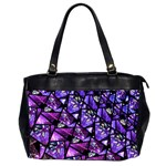 Blue purple Glass Oversize Office Handbag (Two Sides)