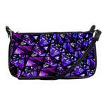 Blue purple Glass Evening Bag