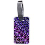 Blue purple Glass Luggage Tag (One Side)