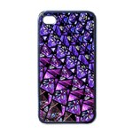 Blue purple Glass Apple iPhone 4 Case (Black)