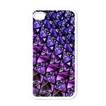 Blue purple Glass Apple iPhone 4 Case (White)