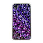 Blue purple Glass Apple iPhone 4 Case (Clear)