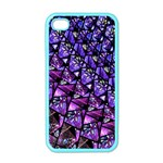 Blue purple Glass Apple iPhone 4 Case (Color)