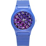 Blue purple Glass Plastic Sport Watch (Small)