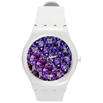 Blue purple Glass Plastic Sport Watch (Medium)