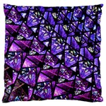 Blue purple Glass Large Cushion Case (Single Sided)