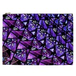Blue purple Glass Cosmetic Bag (XXL)