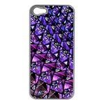 Blue purple Glass Apple iPhone 5 Case (Silver)