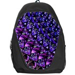 Blue purple Glass Backpack Bag