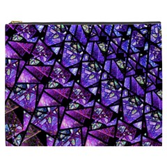 Blue Purple Glass Cosmetic Bag (xxxl) by KirstenStar