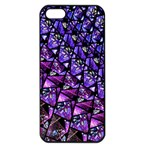 Blue purple Glass Apple iPhone 5 Seamless Case (Black)