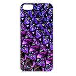 Blue purple Glass Apple iPhone 5 Seamless Case (White)