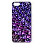 Blue purple Glass Apple Seamless iPhone 5 Case (Clear)
