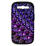 Blue purple Glass Samsung Galaxy S III Hardshell Case (PC+Silicone)