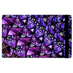 Blue purple Glass Apple iPad 2 Flip Case