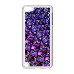 Blue purple Glass Apple iPod Touch 5 Case (White)