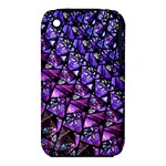 Blue purple Glass Apple iPhone 3G/3GS Hardshell Case (PC+Silicone)