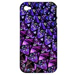 Blue purple Glass Apple iPhone 4/4S Hardshell Case (PC+Silicone)