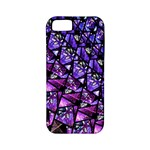 Blue purple Glass Apple iPhone 5 Classic Hardshell Case (PC+Silicone)
