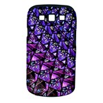 Blue purple Glass Samsung Galaxy S III Classic Hardshell Case (PC+Silicone)