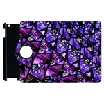 Blue purple Glass Apple iPad 3/4 Flip 360 Case