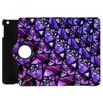 Blue purple Glass Apple iPad Mini Flip 360 Case