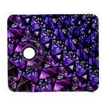 Blue purple Glass Samsung Galaxy S  III Flip 360 Case