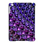 Blue purple Glass Apple iPad Mini Hardshell Case (Compatible with Smart Cover)