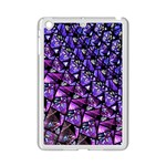 Blue purple Glass Apple iPad Mini 2 Case (White)