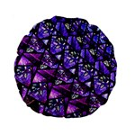 Blue purple Glass Standard 15  Premium Round Cushion
